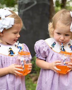Witches Smocked Halloween Dress