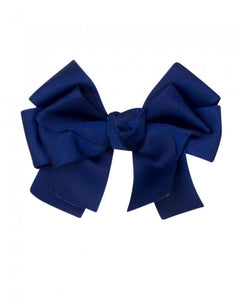 Navy Large Hair Bow