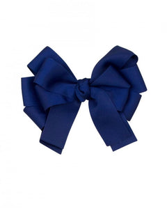 Navy Small Hair Bow