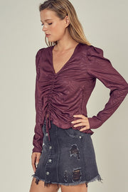 Front Cinch Merlot Top