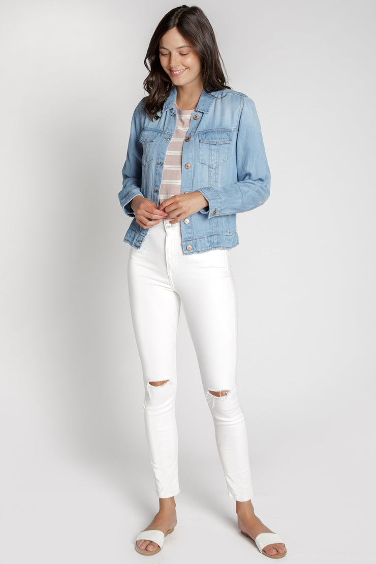Ultra Soft Denim Jacket - Blue