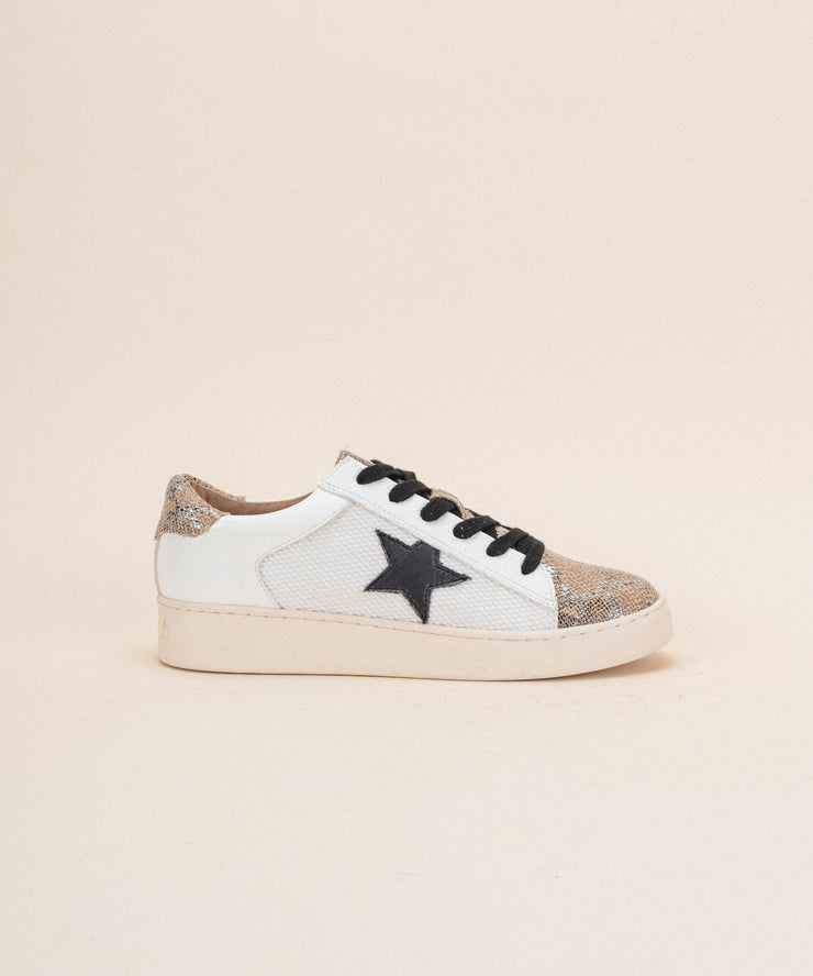 Gold Snake Star Sneakers