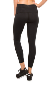 High Waist 7/8 Travel Leggings - Black