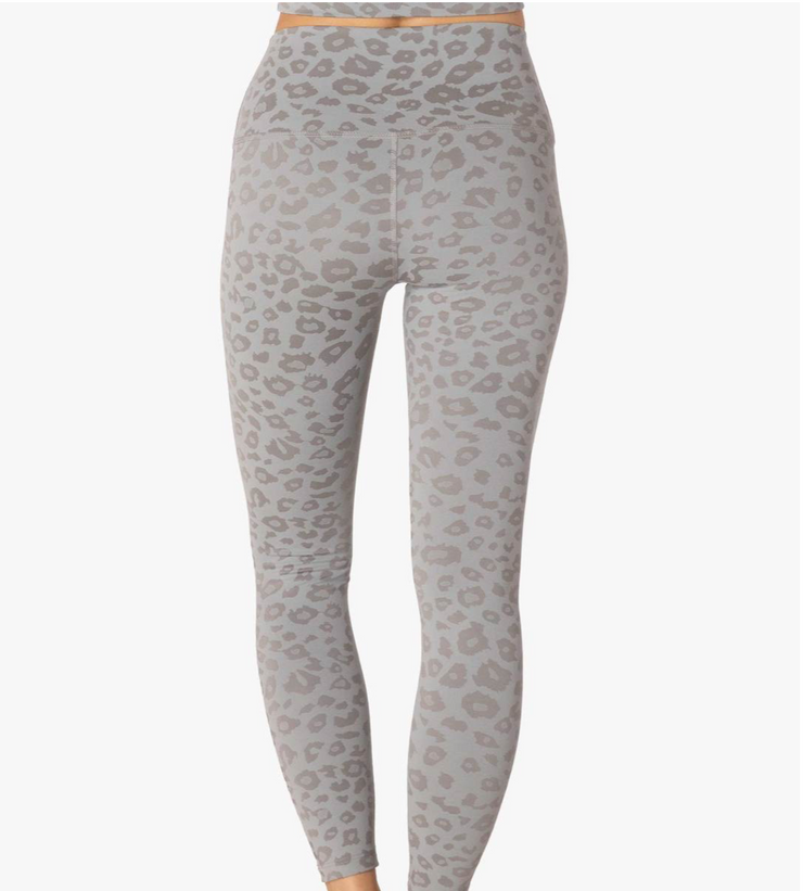 High Waisted Grey Leopard Leggings