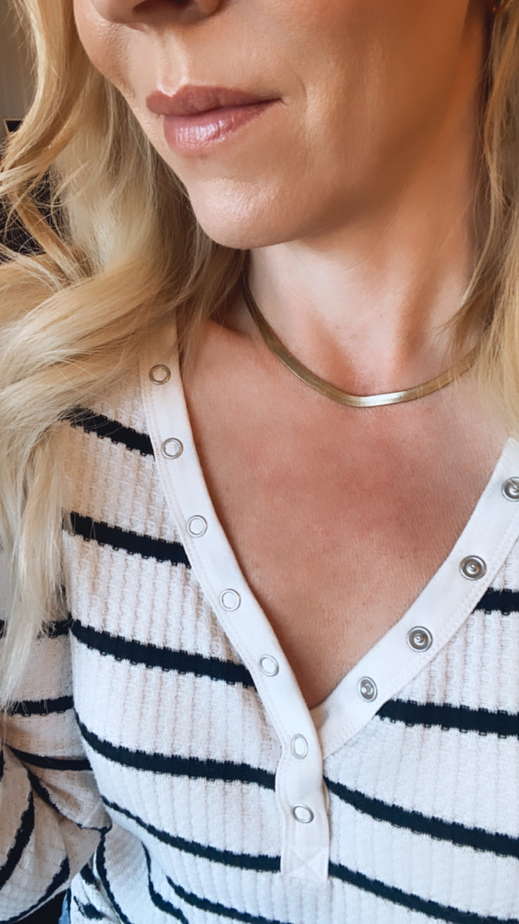 Flat Gold Layering Necklace
