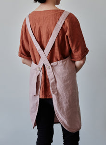 Linen Apron - Dusty rose