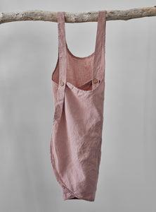 Dusty rose linen apron