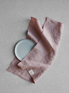 Dusty rose linen napkin