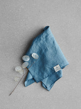 Load image into Gallery viewer, Blue linen napkin