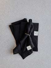 Load image into Gallery viewer, Linen Napkins - Black