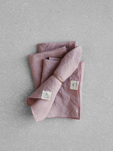 Load image into Gallery viewer, Dusty rose linen napkin set
