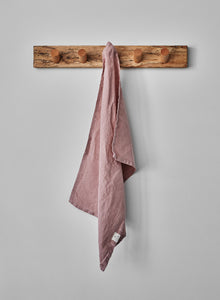 dusty rose tea towel
