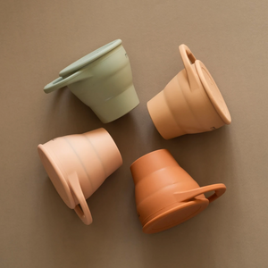 side view of snack cups