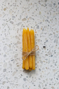 bundle of beeswax birthday candles