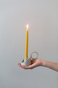 Candle Holder - cream