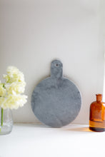 Load image into Gallery viewer, Round Marble Serving Board - grey