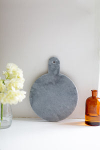 Round Marble Serving Board - grey