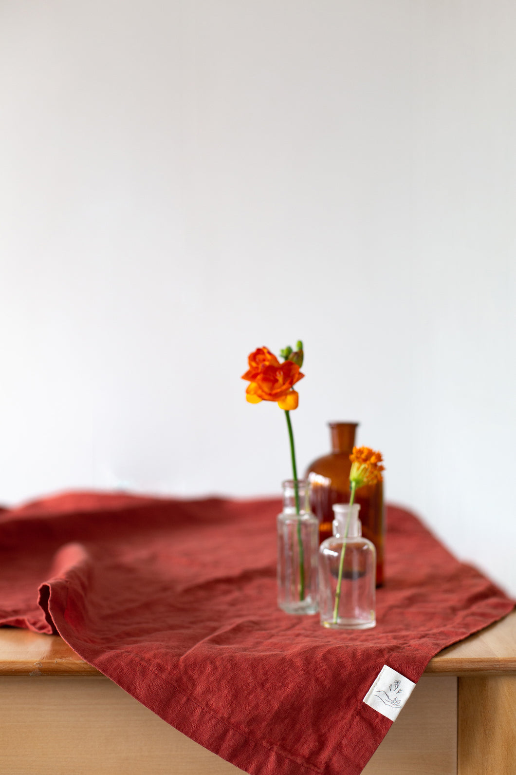 Linen Tablecloth - Terracota