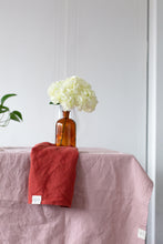 Load image into Gallery viewer, Linen Tablecloth - Pink