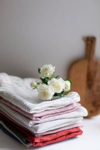 Linen Tea Towel - Terracota