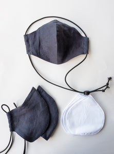 Linen Face Masks - Grey
