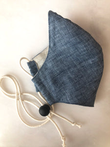 Linen Face Mask - Navy
