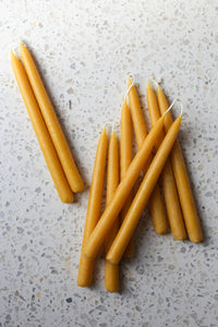"5 11"" beeswax candles pairs"