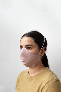 Linen Face Masks - Dusty Pink