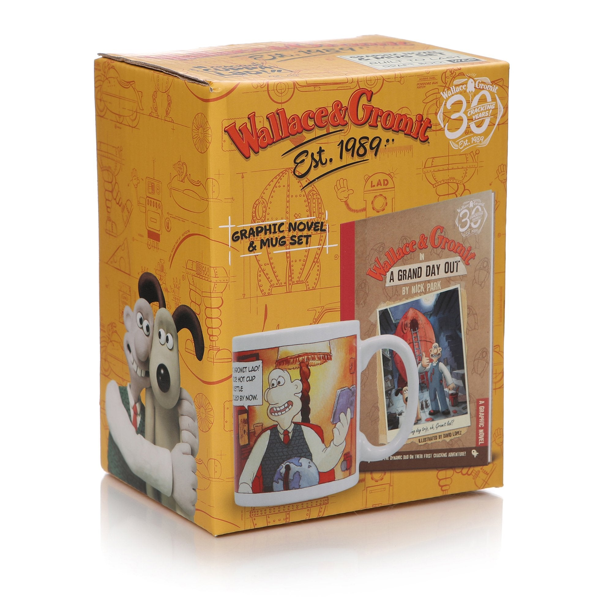 Wallace & Gromit Book & Mug Giftset - A Grand Day Out - Half Moon Bay US
