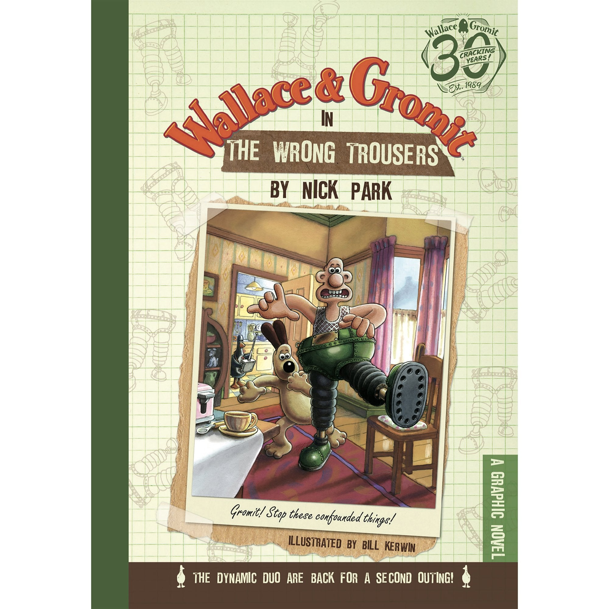 Wallace & Gromit Book & Mug Giftset - The Wrong Trousers - Half Moon Bay US