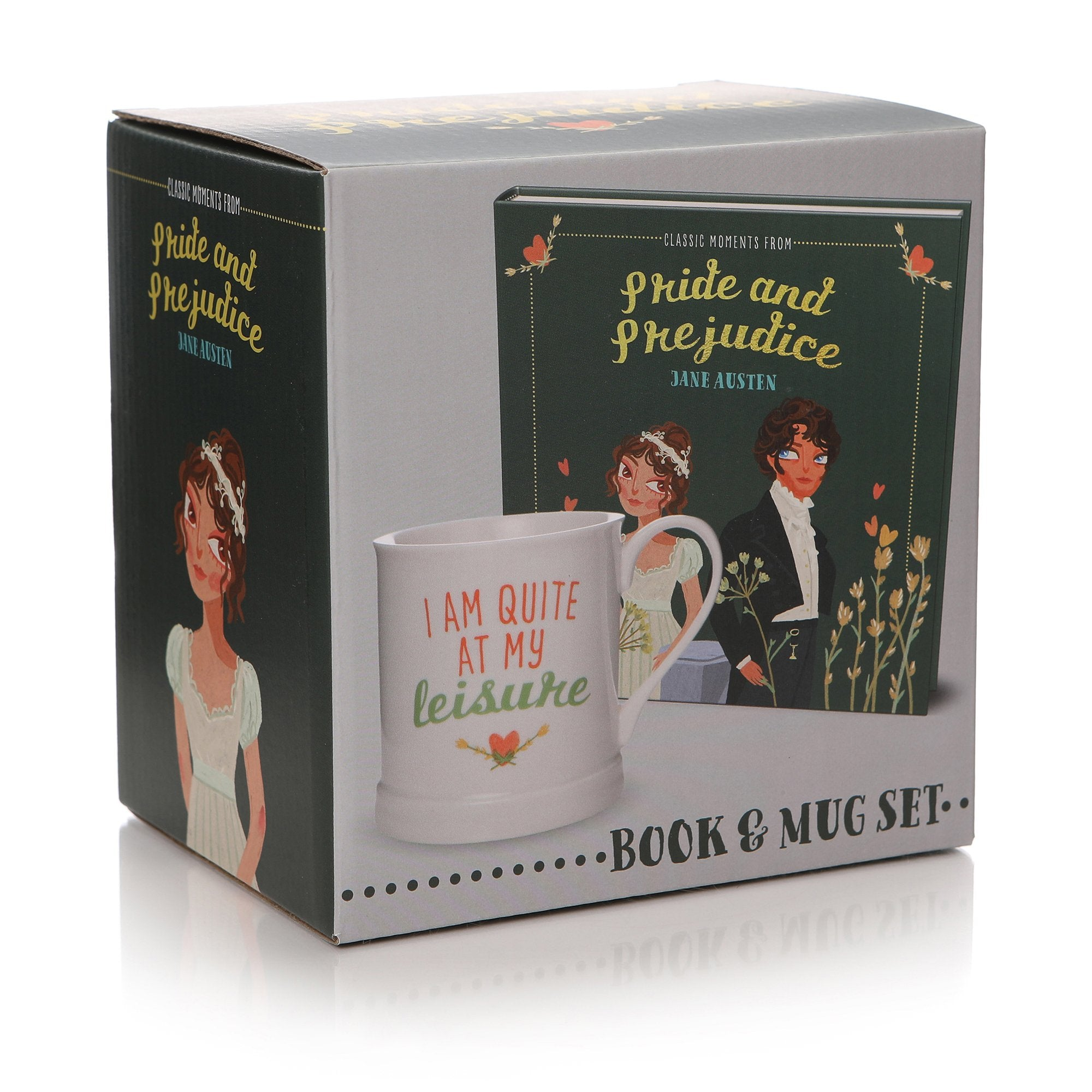 Classic Moments From Pride & Prejudice Book & Mug Gift Set - Half Moon Bay US