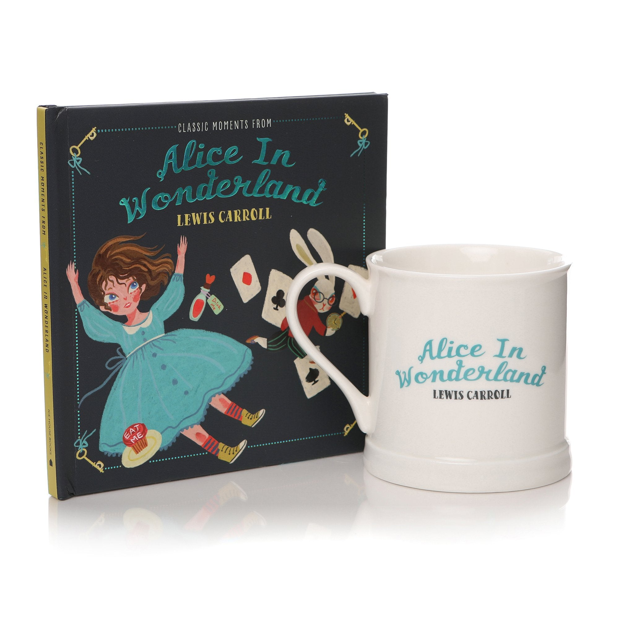 Classic Moments From Alice in Wonderland Book & Mug Gift Set - Half Moon Bay US