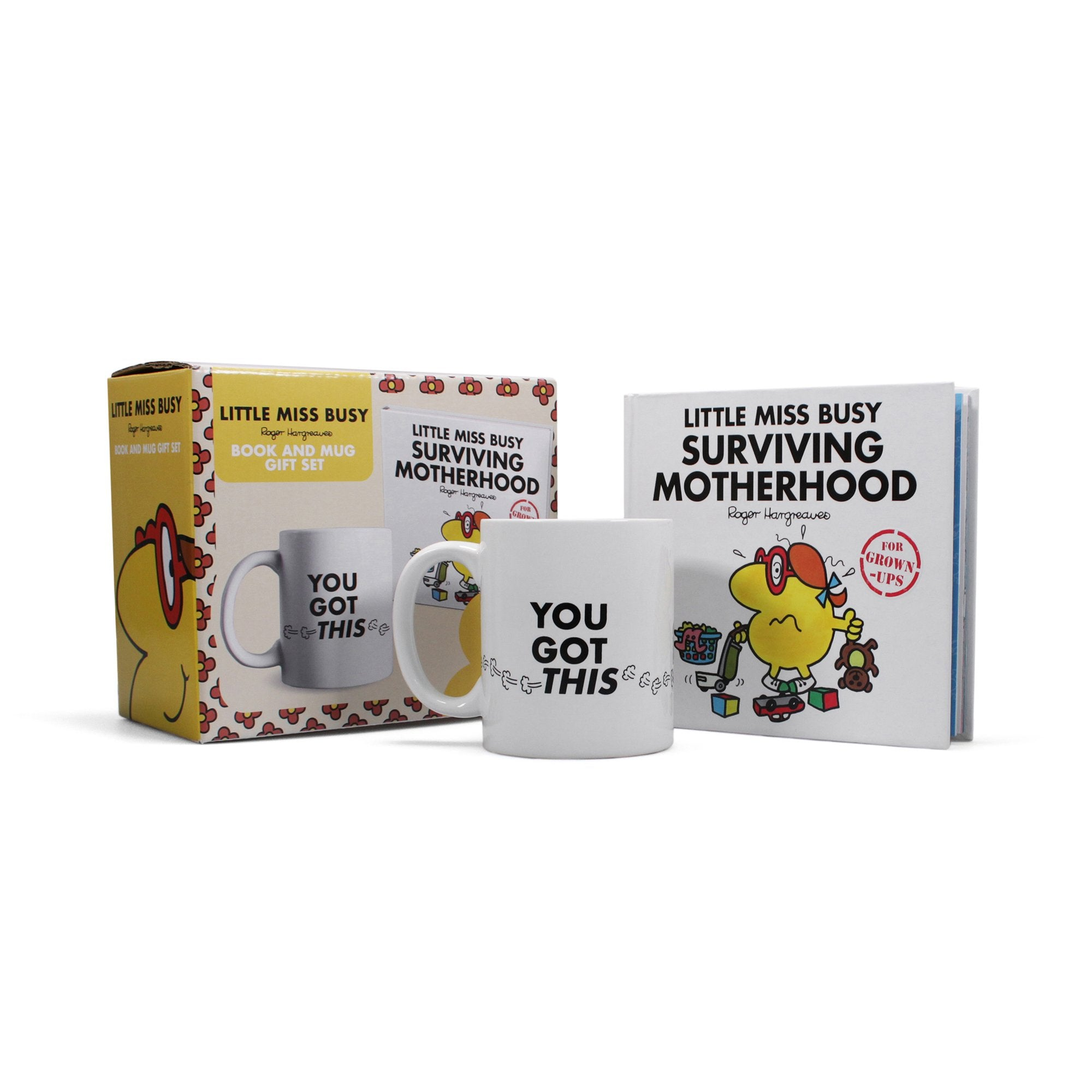 Mr. Men Little Miss Busy Surviving Motherhood Book & Mug Set - Half Moon Bay US