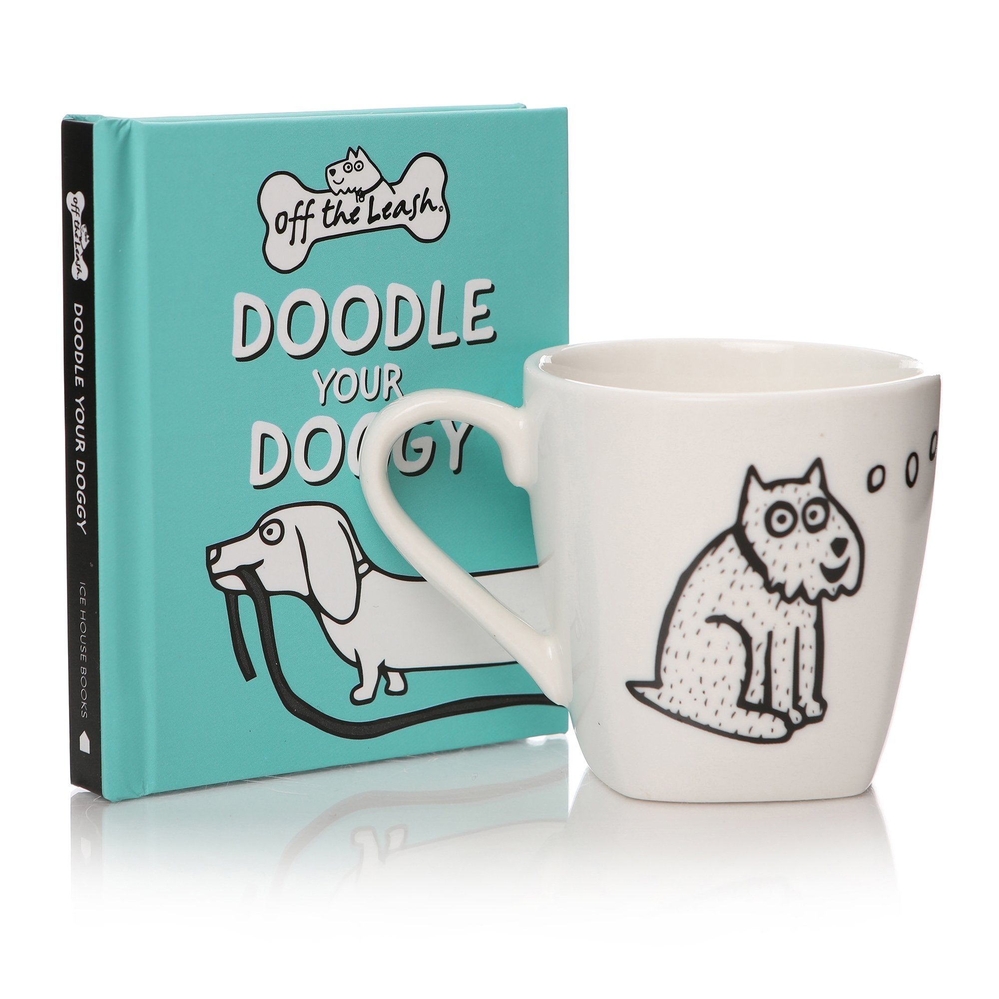 Off the Leash: Mini Book & Espresso Cup Gift Set - Half Moon Bay US