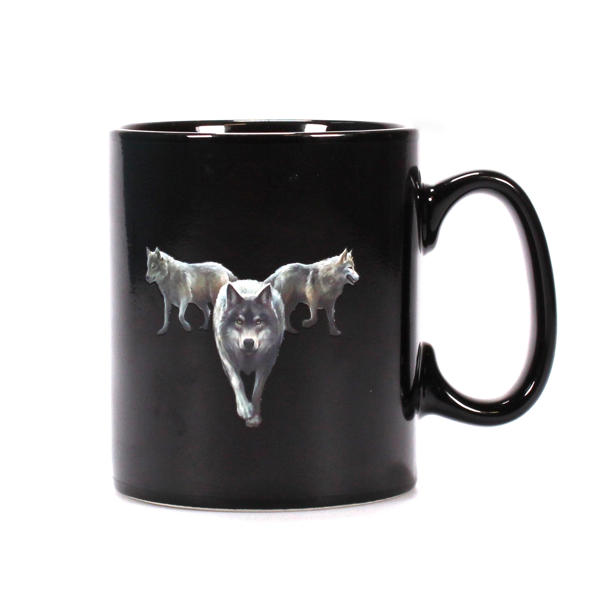 Anne Stokes Heat Changing Mug - Wolf Trio - Half Moon Bay US