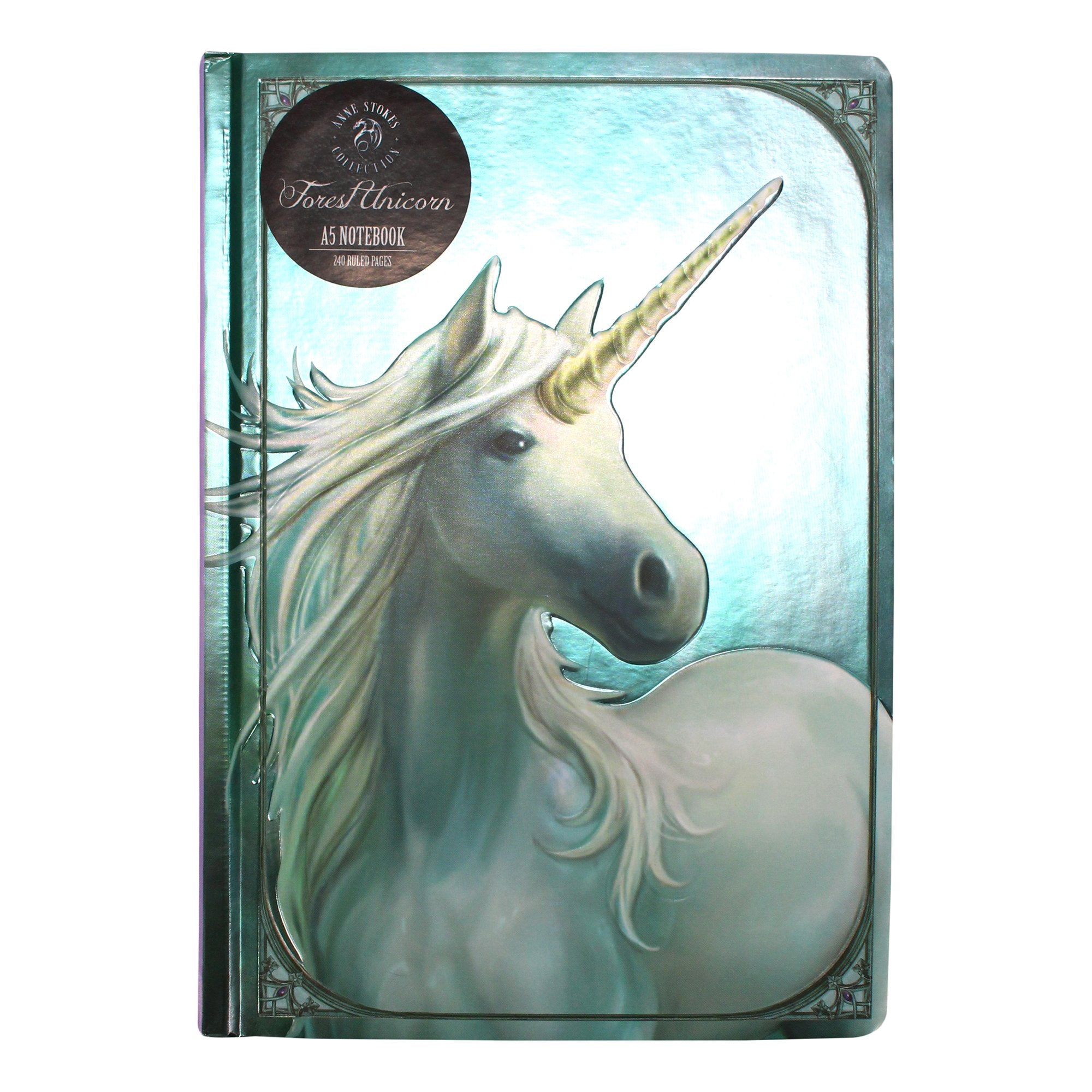 Anne Stokes A5 Notebook - Forest Unicorn - Half Moon Bay US