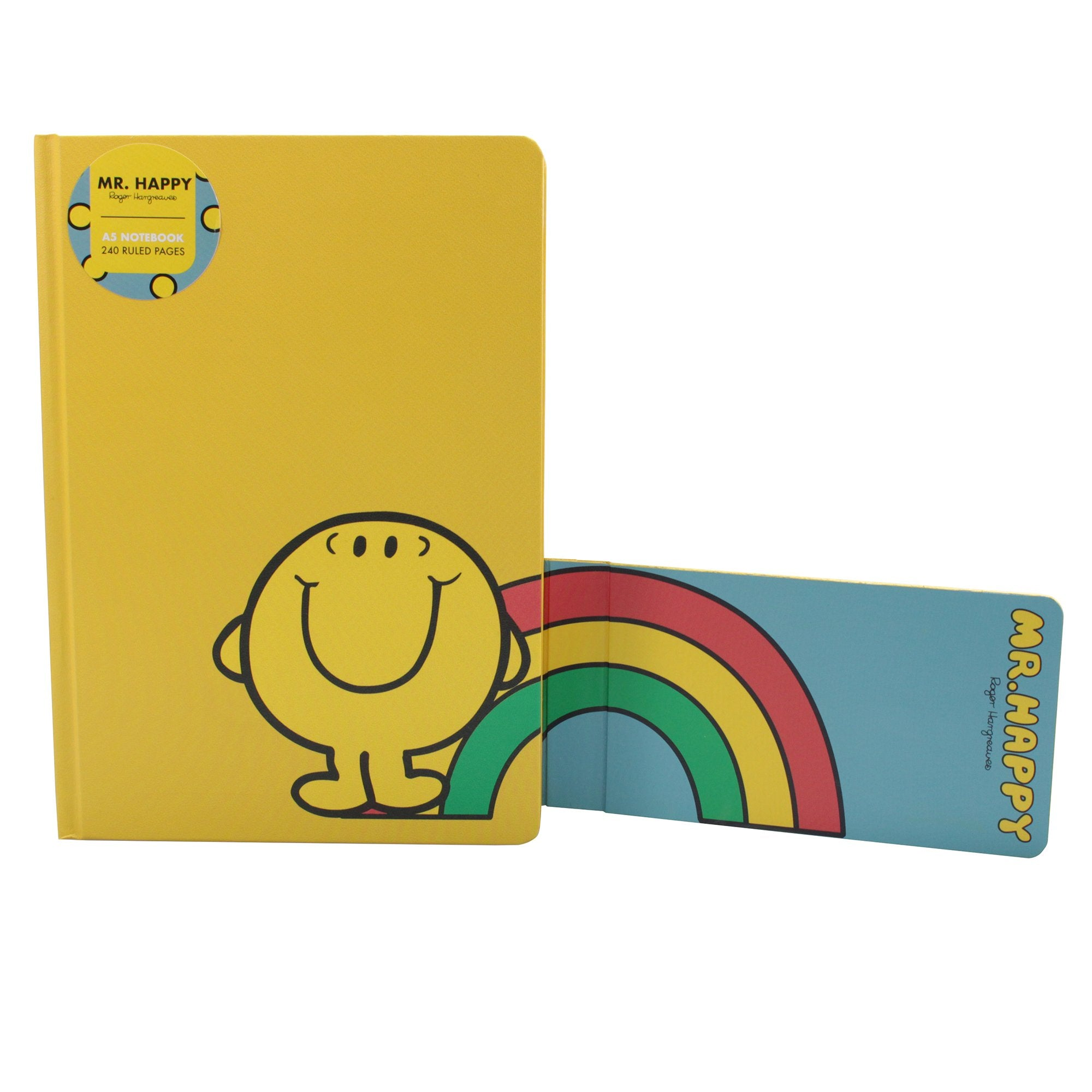 Mr. Men Little Miss A5 Notebook - Mr. Happy - Half Moon Bay US