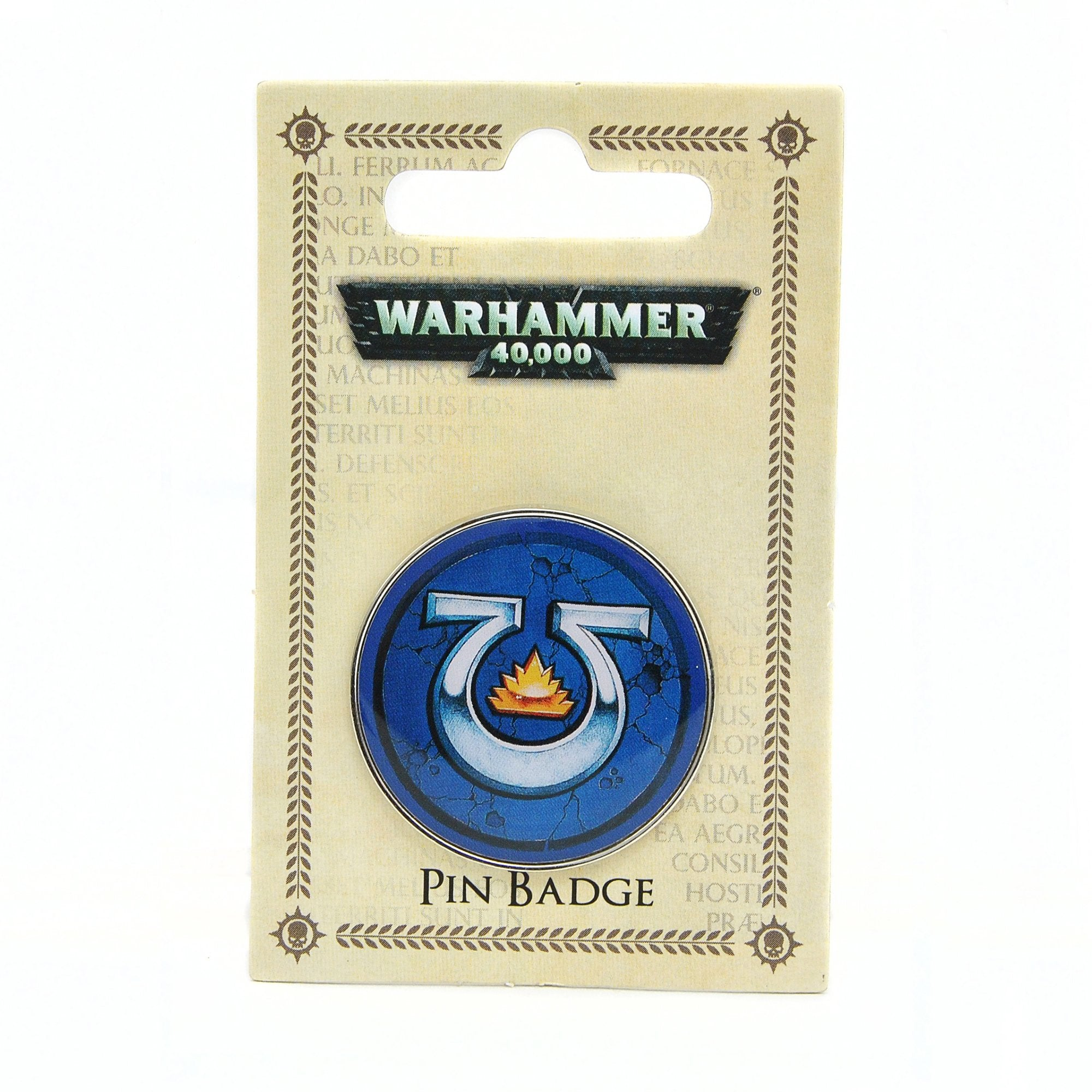 Warhammer 40,000 Pin Badge - Ultramarines - Half Moon Bay US