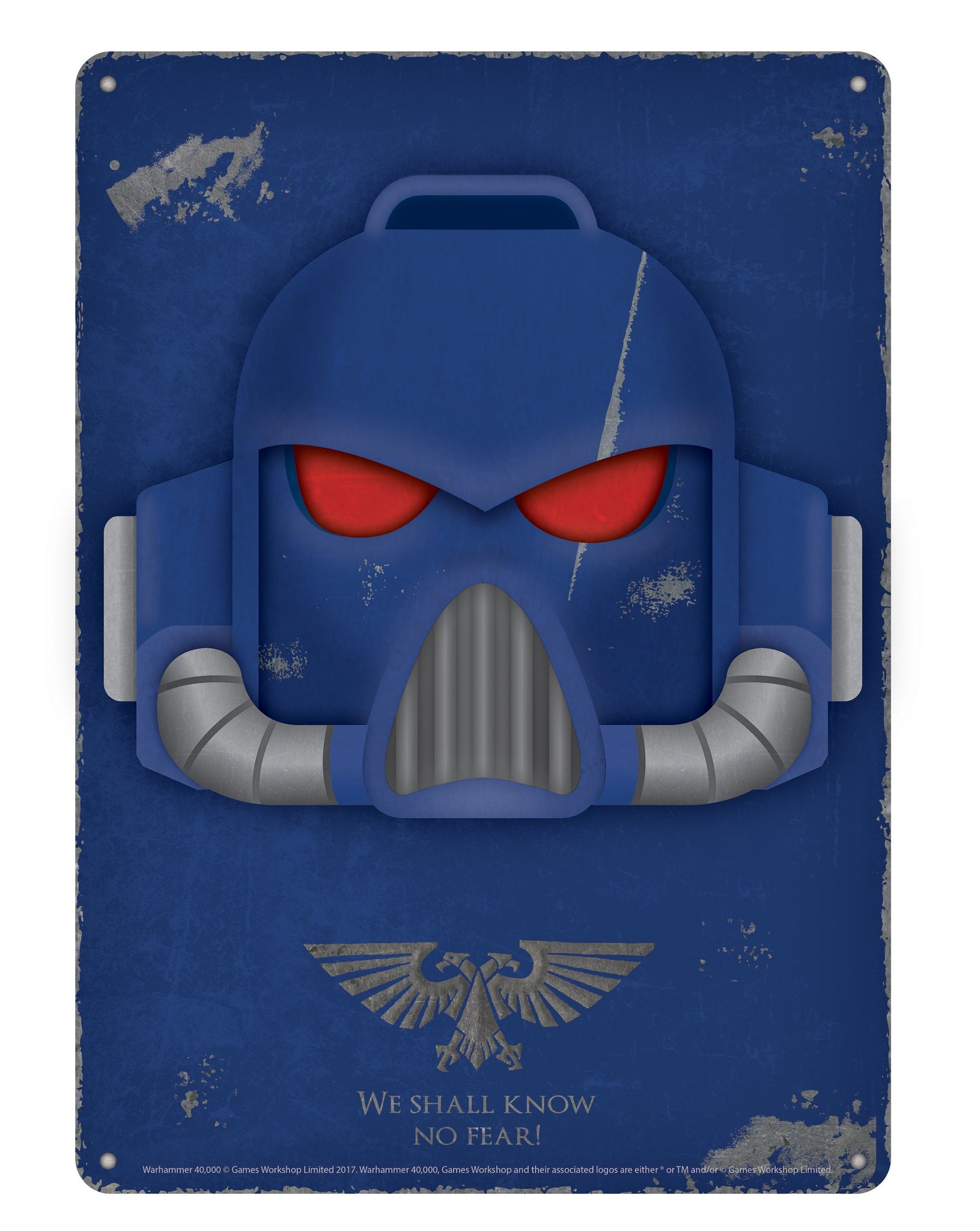 Warhammer 40K Tin Sign - Space Marine - Half Moon Bay US