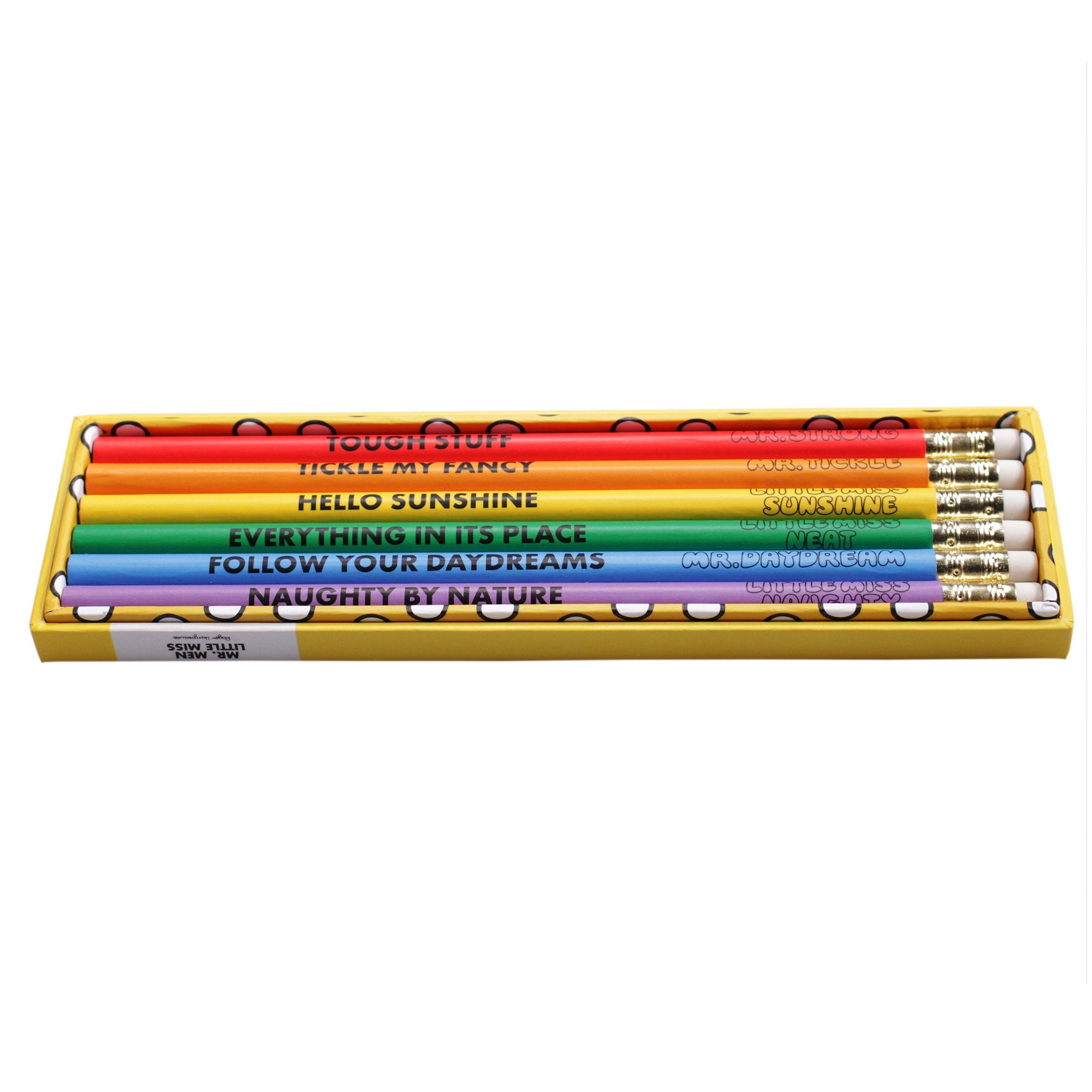 Mr. Men Little Miss Set of 6 Pencils - Half Moon Bay US