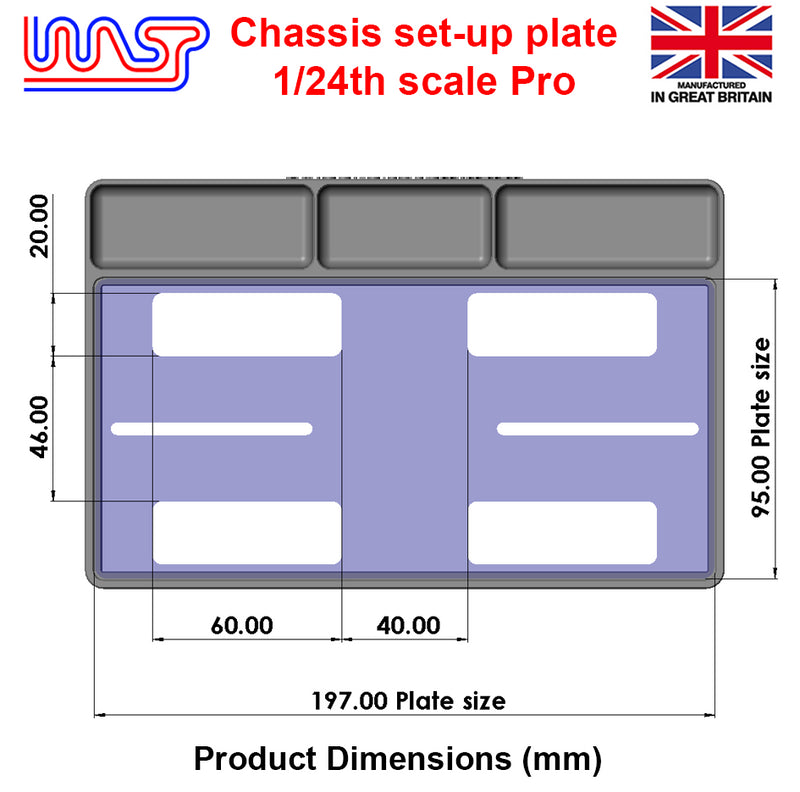 Slot Car Chassis Pro Set Up Plate 1:24 Scale New WASP