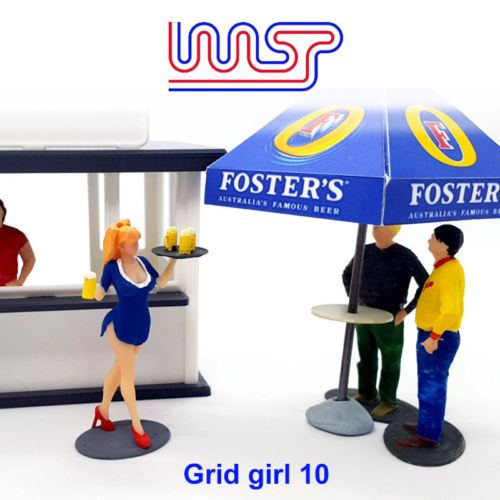 Grid Girl Pit Girls Track Side Scenery Pit Lane Unpainted Figure GG10