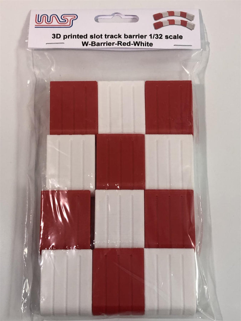 Slot Car Track Scenery Red and White Barriers x 12 1:32 Scale NEW Wasp