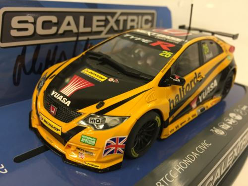 Scalextric C3861AE Autograph Series Matt Neal Honda Civic Type R 2016