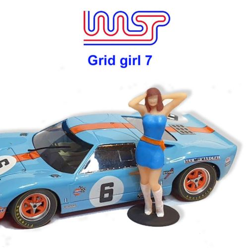Grid Girl Pit Girls Track Side Scenery Pit Lane Unpainted Figure GG7