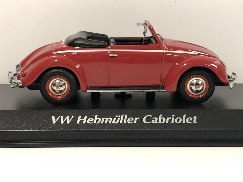 Maxichamps 940052131 VW Volkswagen Hebmuller Cabriolet 1950 Red 1:43 Scale Boxed