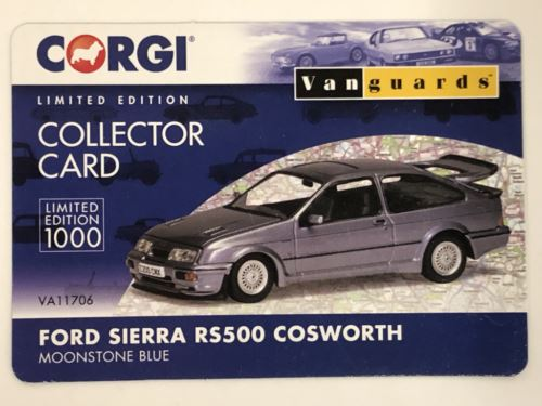 Corgi VA11706 Ford Sierra RS500 Cosworth Moonstone Blue 1:43