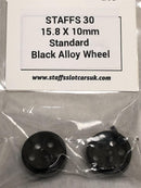 Staffs Aluminium BBS Style Wheels in Black 16.9x10mm STAFFS40
