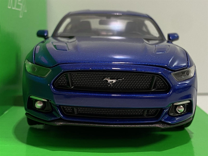 Ford Mustang 2015 GT Blue 1:24 Scale Welly 24062