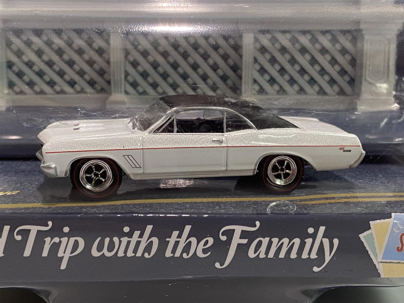 1967 Buick GS White with 3D City Board Johnny Lightning JLAC001